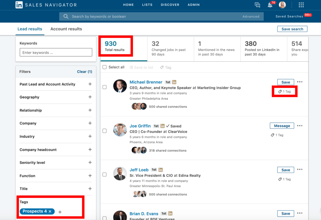 Maximize Lead Gen with LinkedIn Tags in Sales Navigator