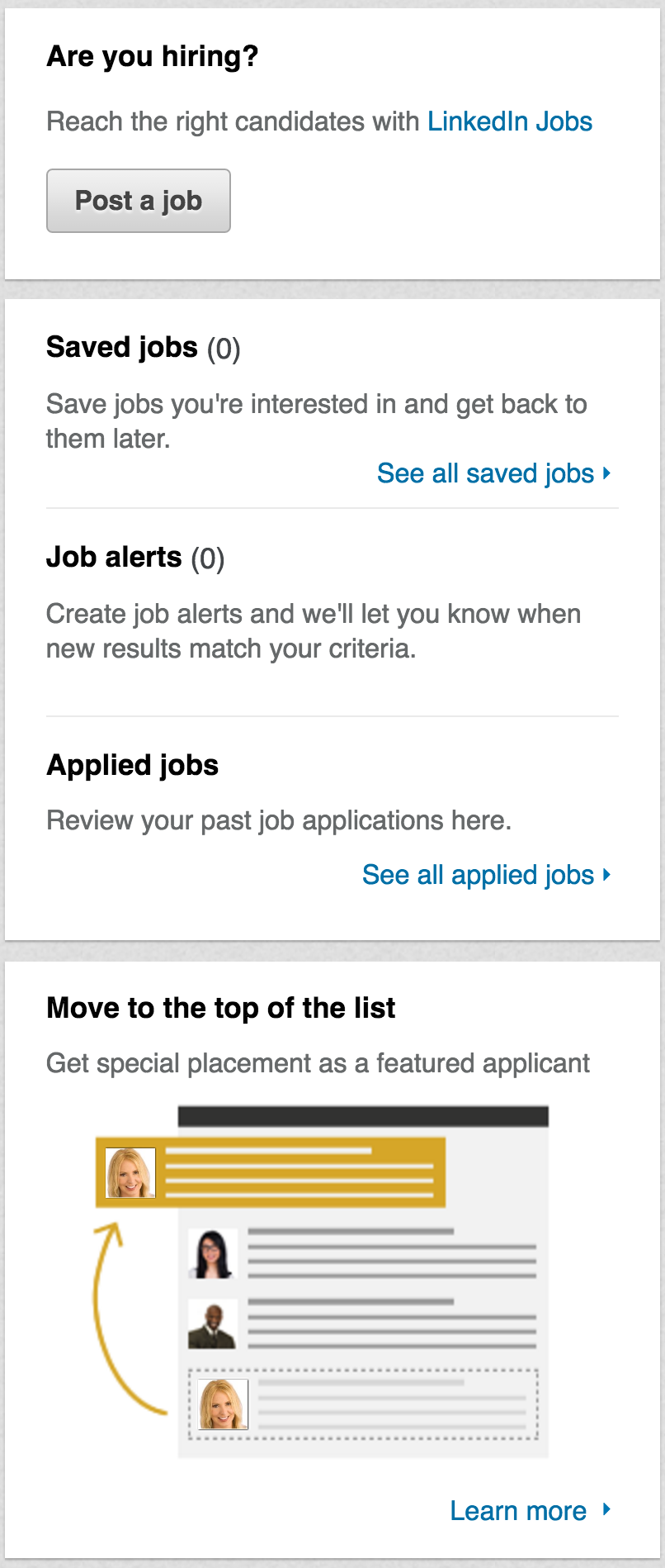 how to find saved jobs on linkedin