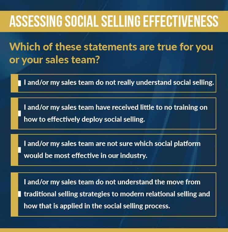 Assessing the social selling effectiveness of your sales team.